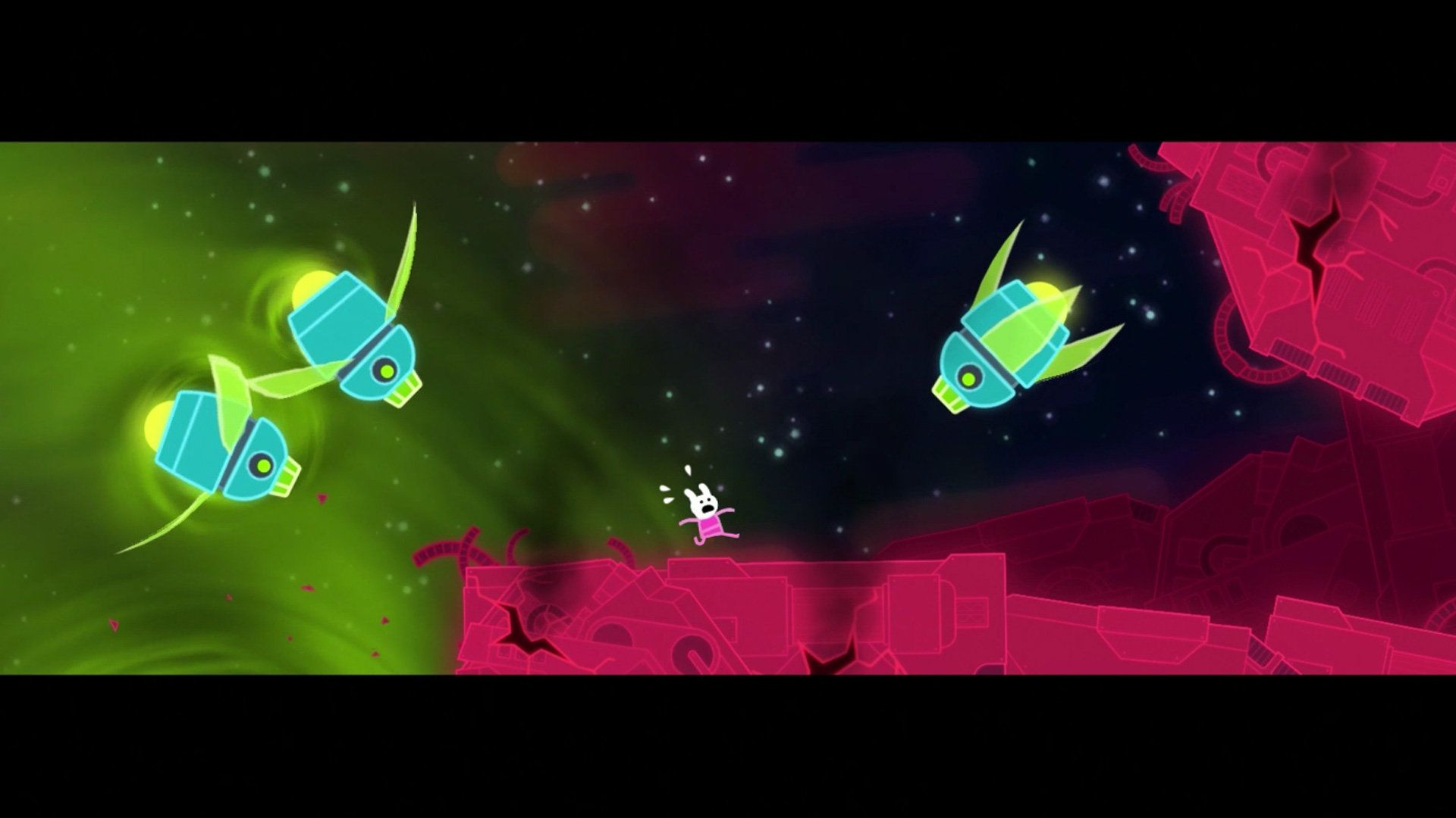 Lovers In A Dangerous Spacetime Screenshot From Intro Cutscene