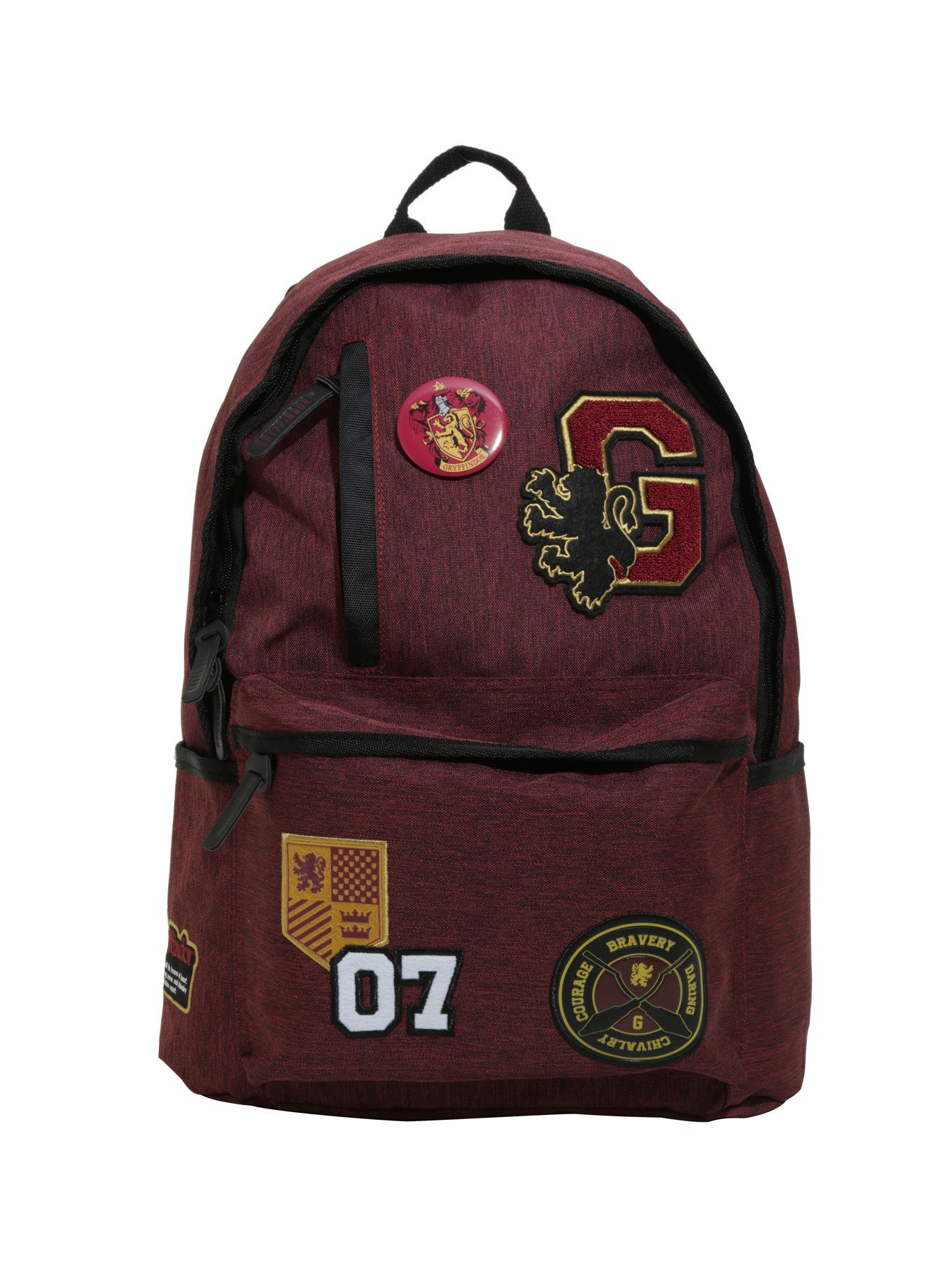 1510ed2e04 Harry Potter Gryffindor Varsity Patch Backpack