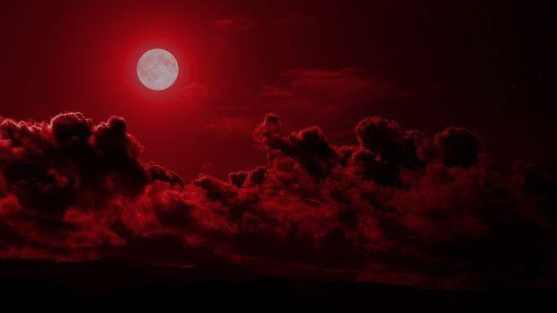 Cool Red Moon Wallpaper Full Images Hd Desktop
