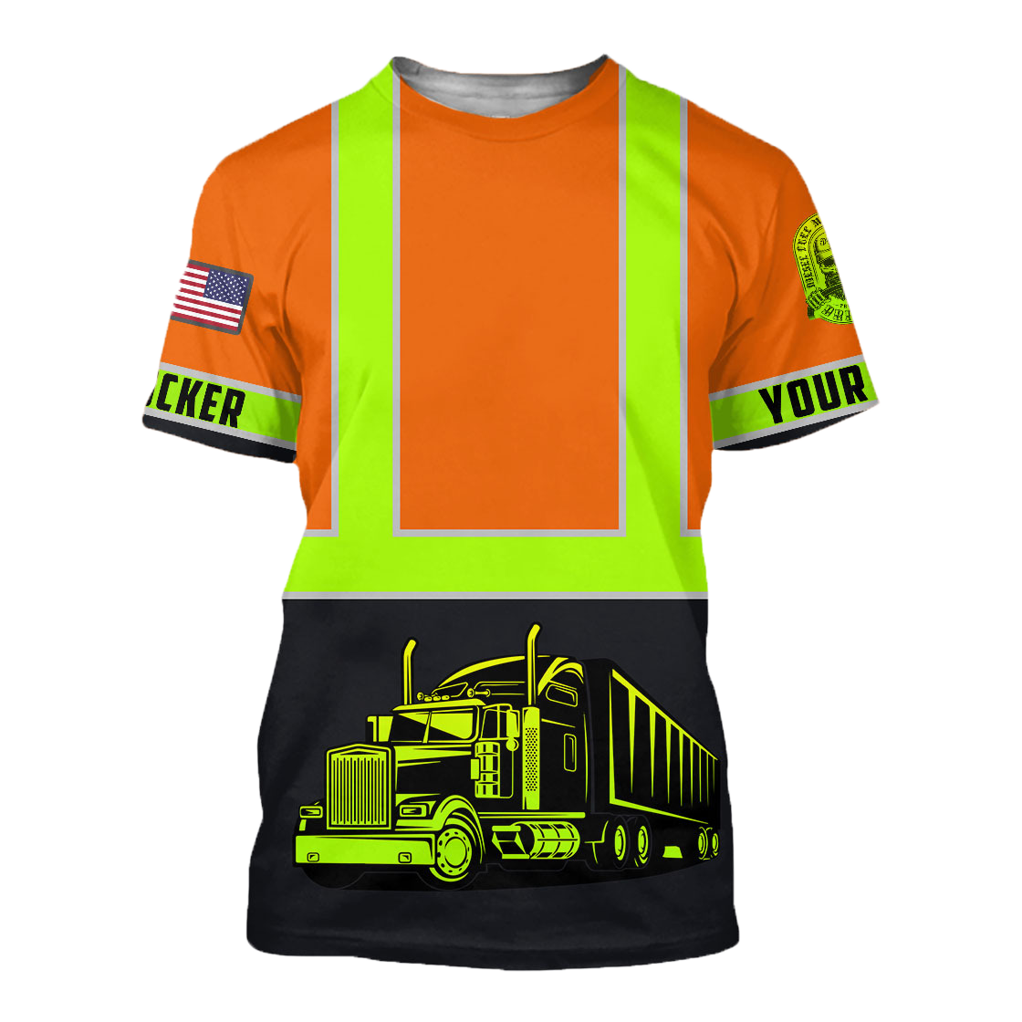 Personalized Trucker Safety 3D Printed Shirts TN - T-shirt / XXL