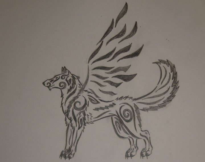 Lineart Wolf Tattoo : Wolf outline tattoo by pinterest