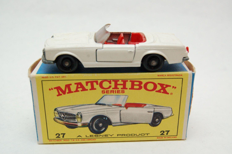 No 27 Mercedes Benz 230sl W Original Box By Matchbox Lesney England 60 39 S Toy Car Great Gift Idea Stocking Stuffer For Dad Toy Car Matchbox Matchbox Cars