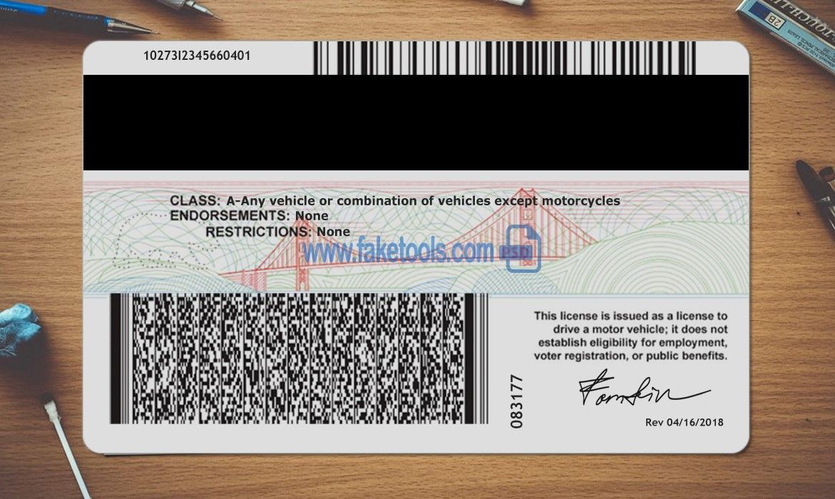California Driver License Psd Template High Quality Psd Template Drivers License California Drivers License Birth Certificate Template