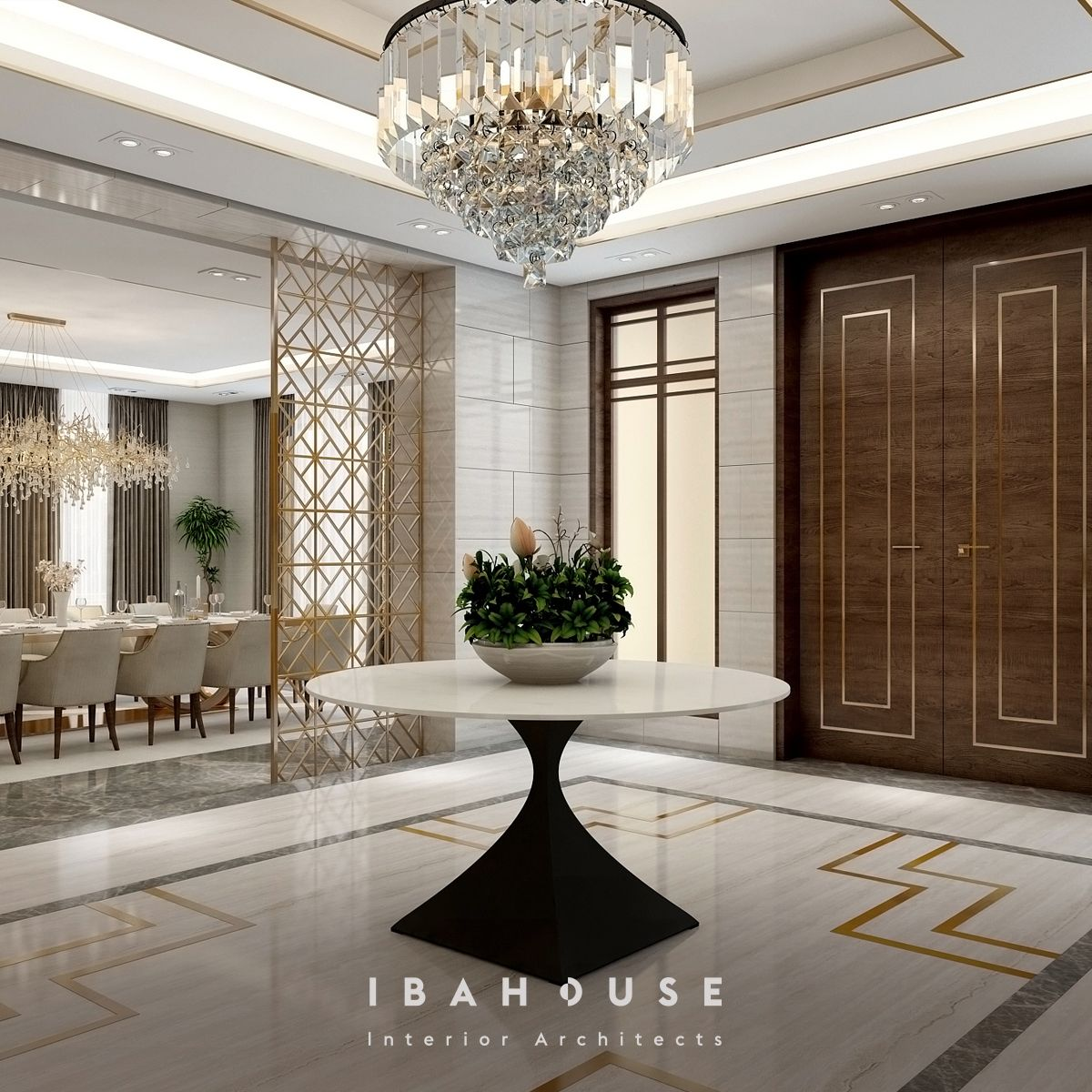 First Impression Matters But A Classy Villa S Entrance Has The Final Word Luxurydesigns أ House Ceiling Design Lobby Interior Design Interior Architect
