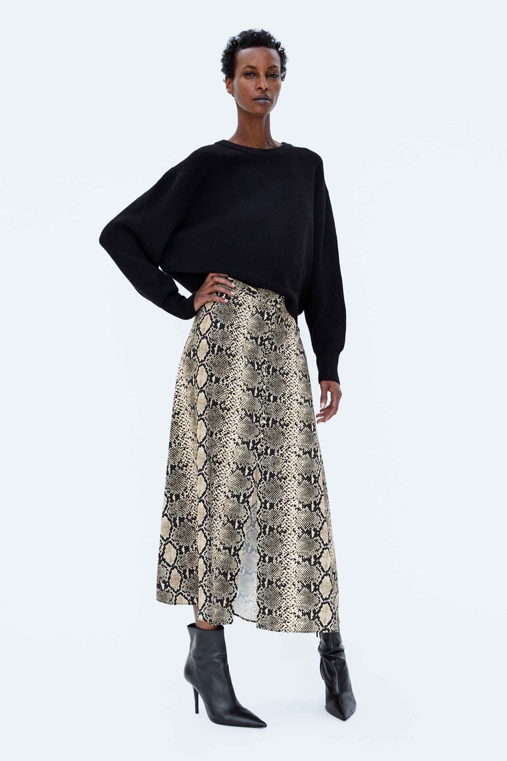 2a3be3cb0f Image 1 of SNAKE PRINT SKIRT from Zara | Wish List in 2019 | Printed ...