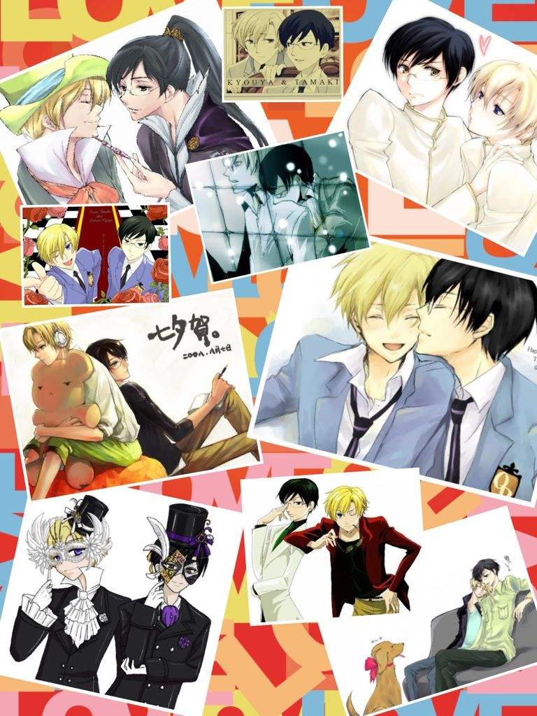 Kyoya x Tamaki ouran host club High school host club