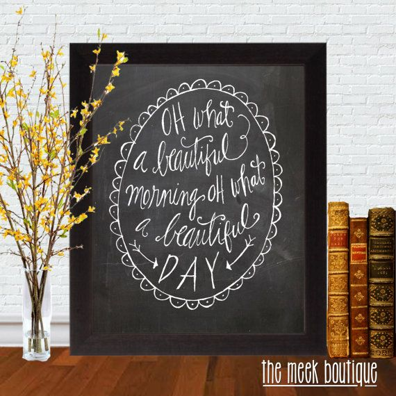 oh what a beautiful morning musical lyrics oklahoma no 388 the meek boutique my etsy store. Black Bedroom Furniture Sets. Home Design Ideas