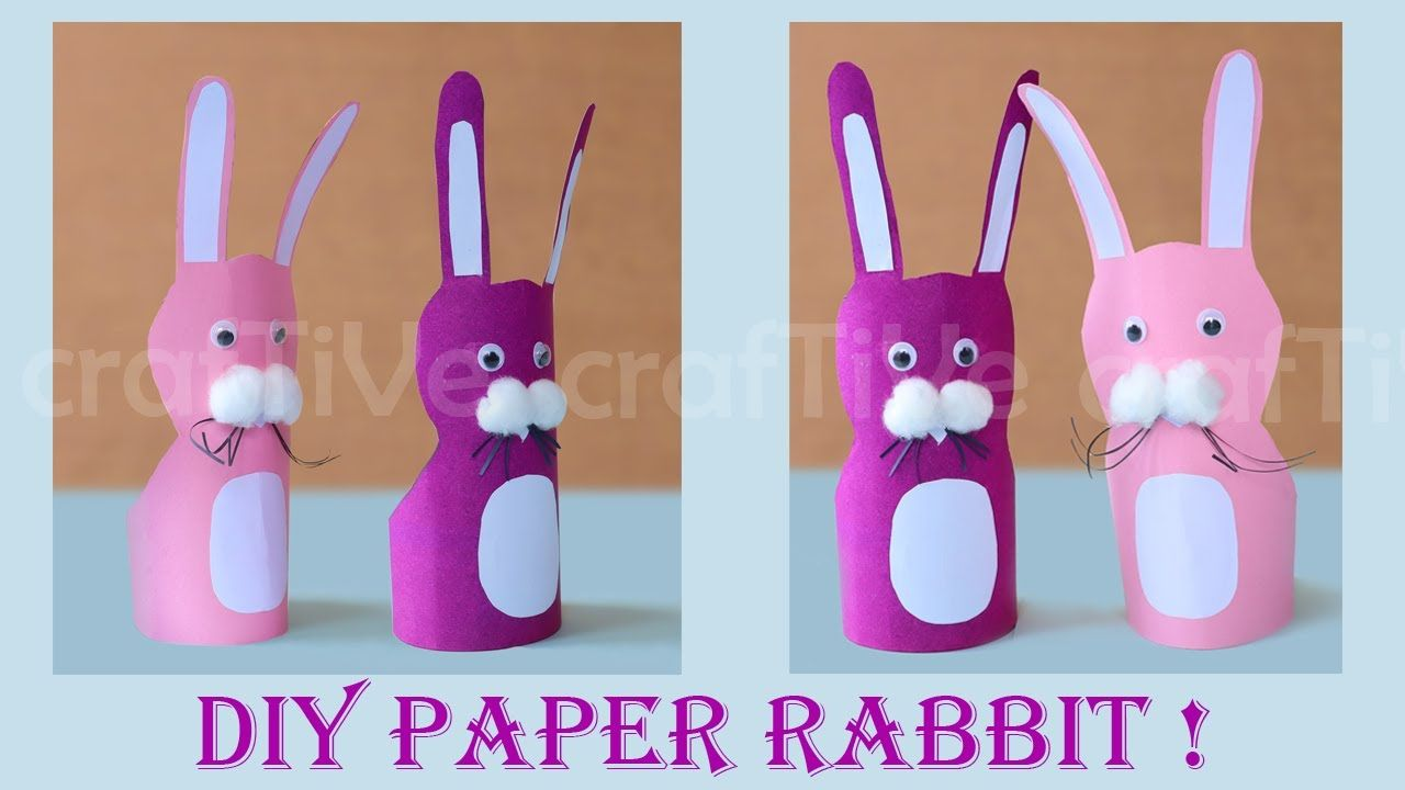 Photo of craftive13|How To Make Paper Rabbit|Easy Paper Rabbit Craft Idea |DIY Paper Bunny School Craft