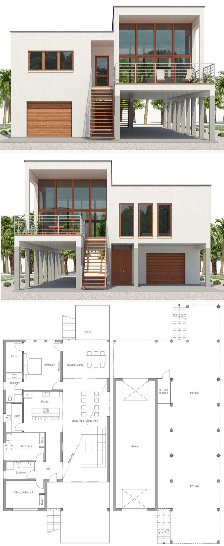 Beach House Plan Ch545 Sims House Plans Coastal House Plans Beach House Flooring