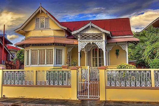 Nadia Sanowar Fine Art America Caribbean Homes City House Trinidad