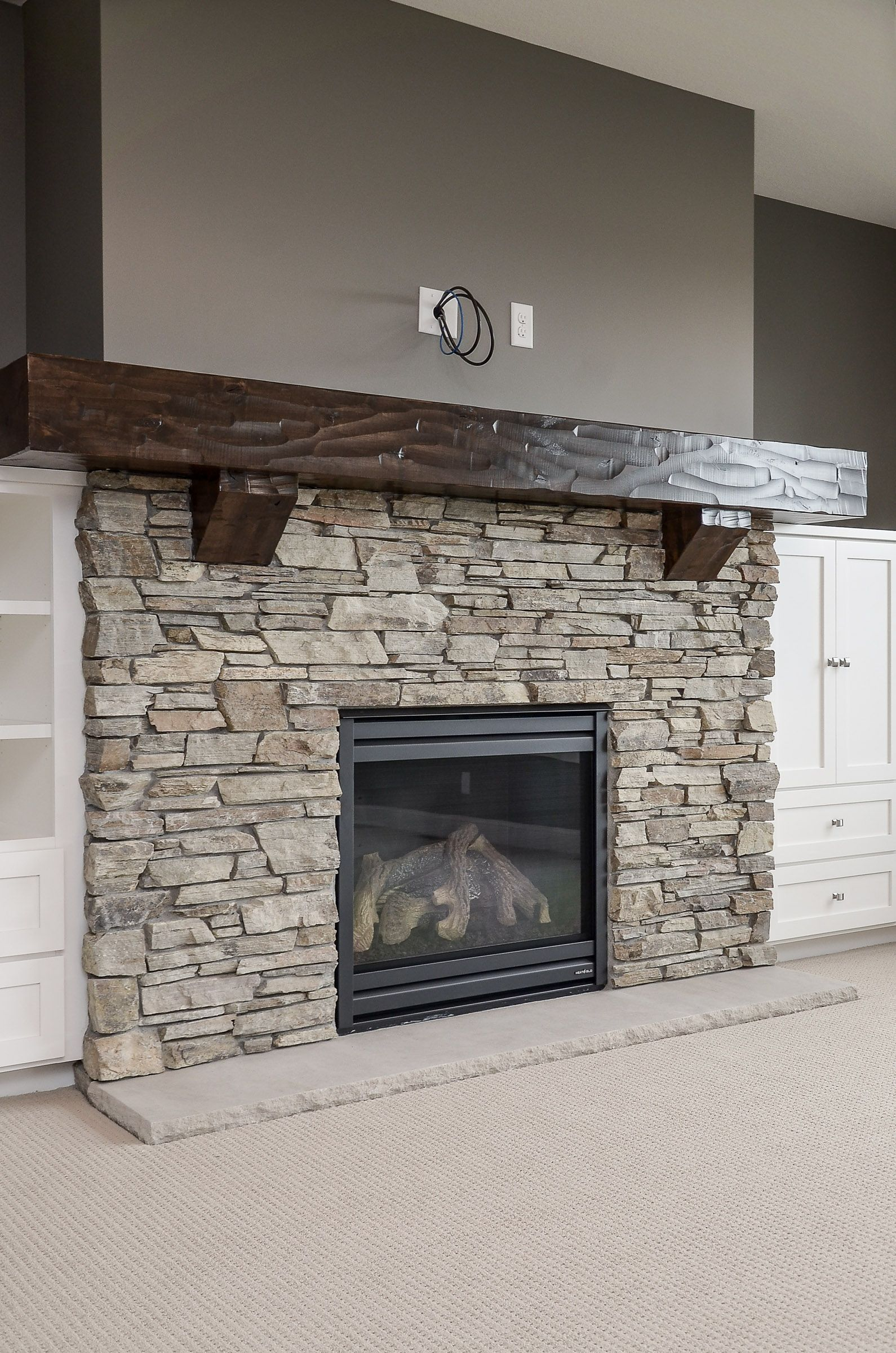 Pin By Ashley Jensen On Basement Area In 2020 Fireplace Remodel