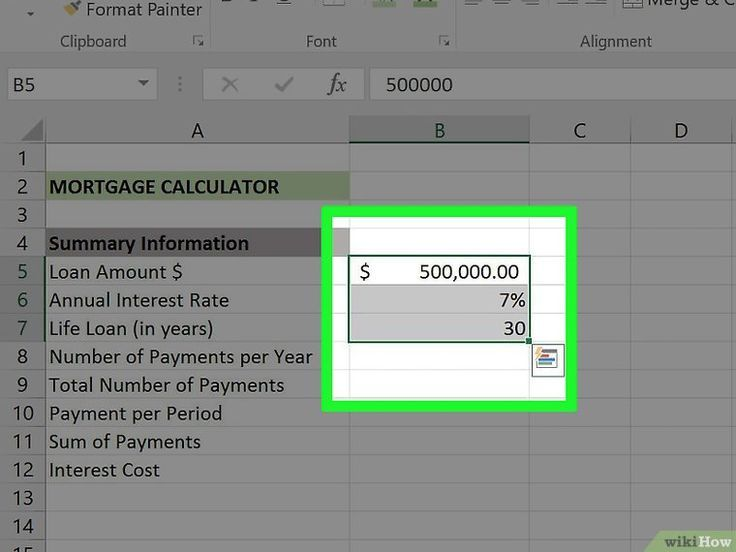 Create A Mortgage Calculator With Microsoft Excel 30 Year Amortization Schedule Calculator Mortgage Repayment Calculator Mortgage Calculator Online Mortgage