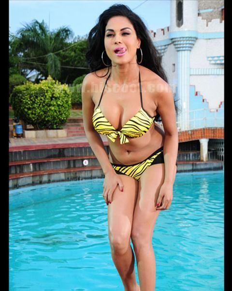 Veena Malik Sizzles In A Bikini As Silk Smitha Bollywood Sexy