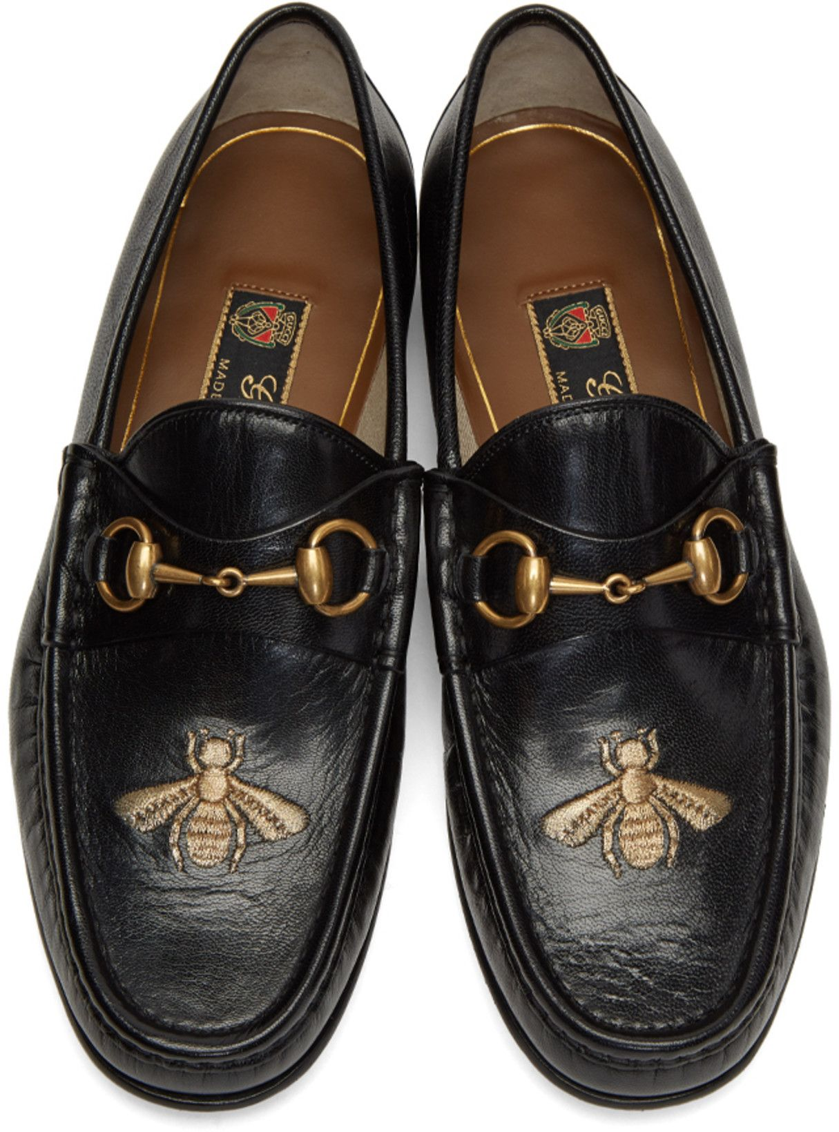 Black Bee Horsebit Loafers Gucci YQdBm2P2Q