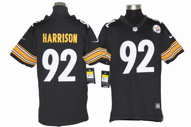 0a16fb61d Nike Pittsburgh Steelers 92 James Harrison Youth Black NFL Jersey $22.99
