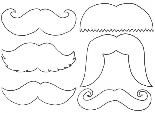 mustache printables | Little Morning Milk Mustache - The Breakfast ...