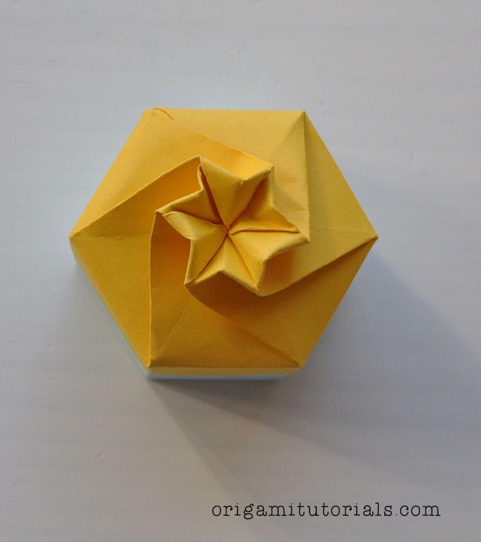 Origami Rose Box And Paper Pinterest Flower Diagram Rosebox Hexagonal Tutorial
