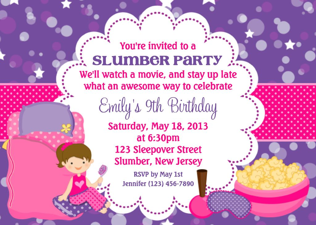 Spa Slumber Party Invitations | Spa at Home | Pinterest | Slumber ...