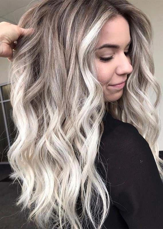 17 Amazing Examples Of Green Hair 2019 Trends In 2020 Blonde Hair Colour Shades Cool Blonde Hair Cool Toned Blonde Hair