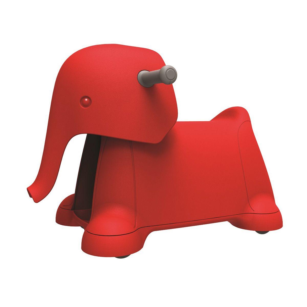 Ce Porteur Elephant Rouge Au Design Moderne Fera Le Bonheur De