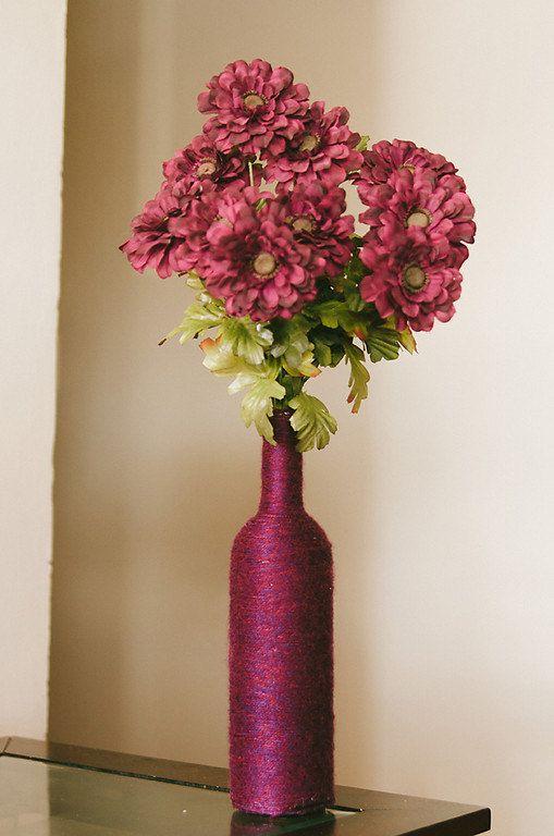 Handmade Wine Bottle Vase by LovelyVines on Etsy, $15.00