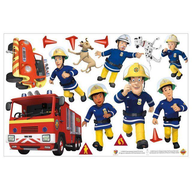 Wandtattoo »Feuerwehrmann Sam - Helden« #fliesenstreichen