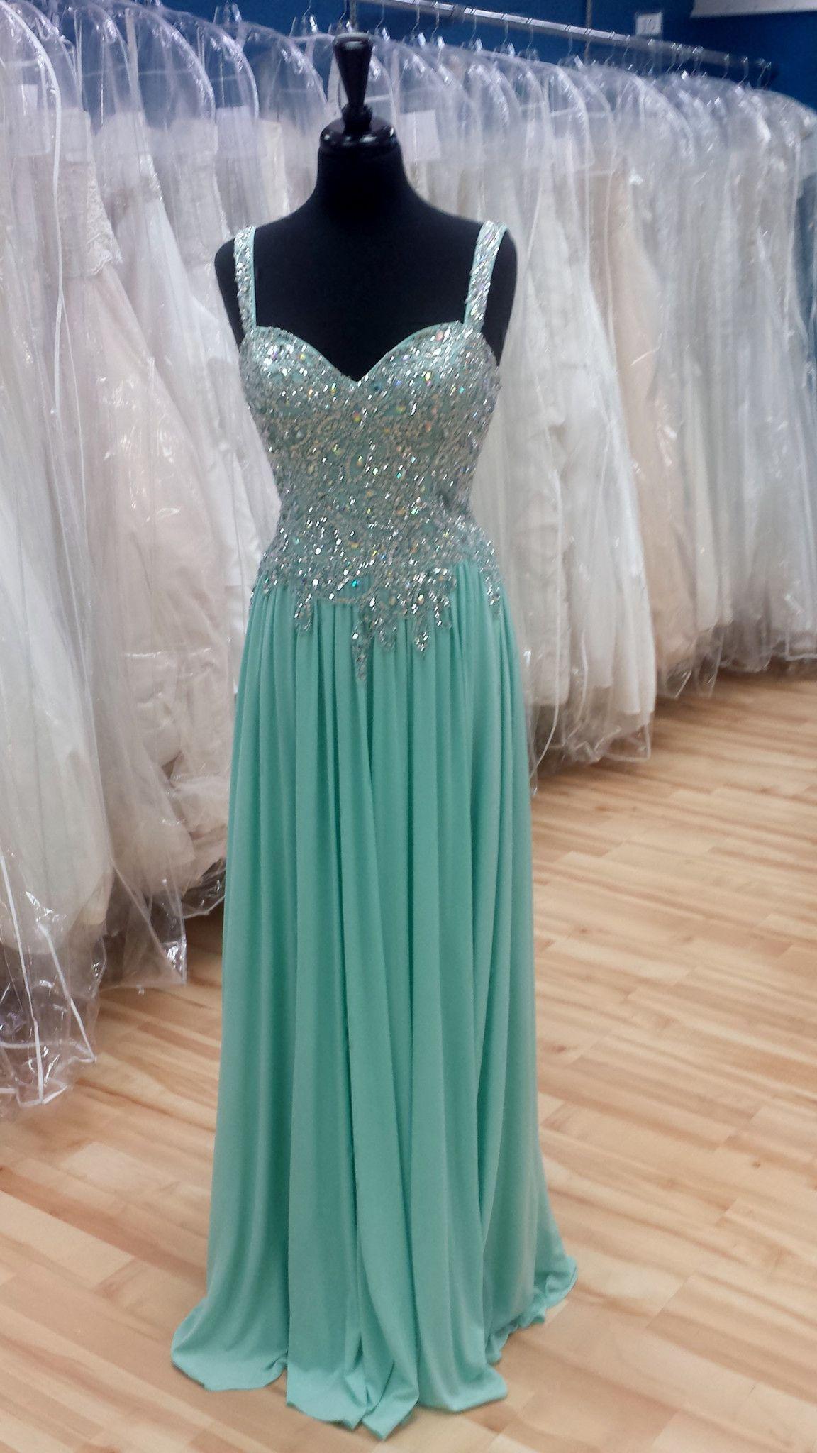 Sparkle Mint Prom Dress | $375.00 Shop Bridal Cottage | simple and ...