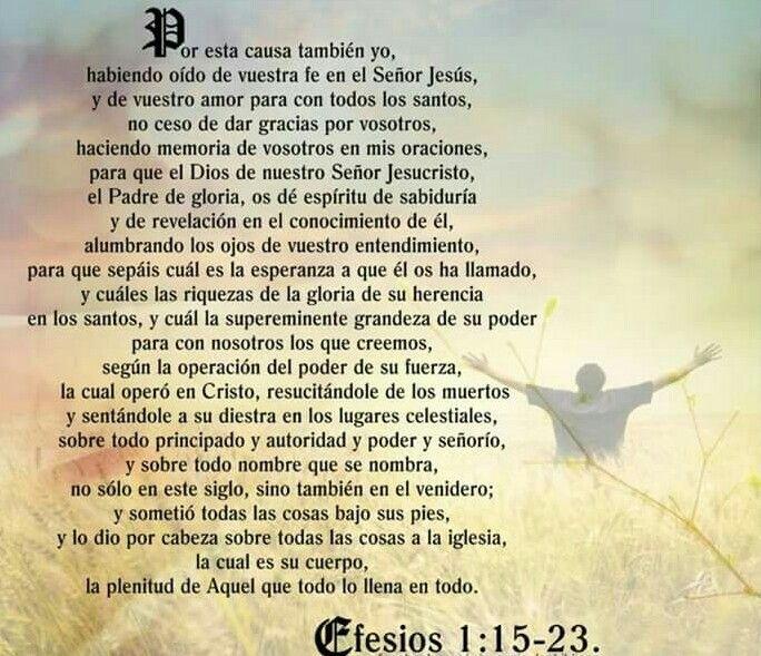 Efesios 1 15 23 Efesios Mensajes Cristianos Oraciones