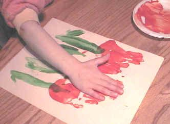 """Handprint Tulips with verse - """"This isn't just a lily as you can plainly see.  I made it with my hand which God made a part of me"""".  It comes with lots of love especially to say,  I hope you have a very, special Mother's Day!"""
