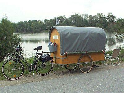bike pulled camper yes fresh start pinterest. Black Bedroom Furniture Sets. Home Design Ideas