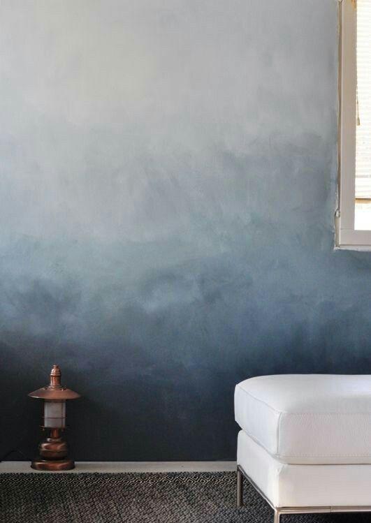 Ombre muur kalkverf? - Home   Pinterest - Ombre, Muur en Slaapkamer