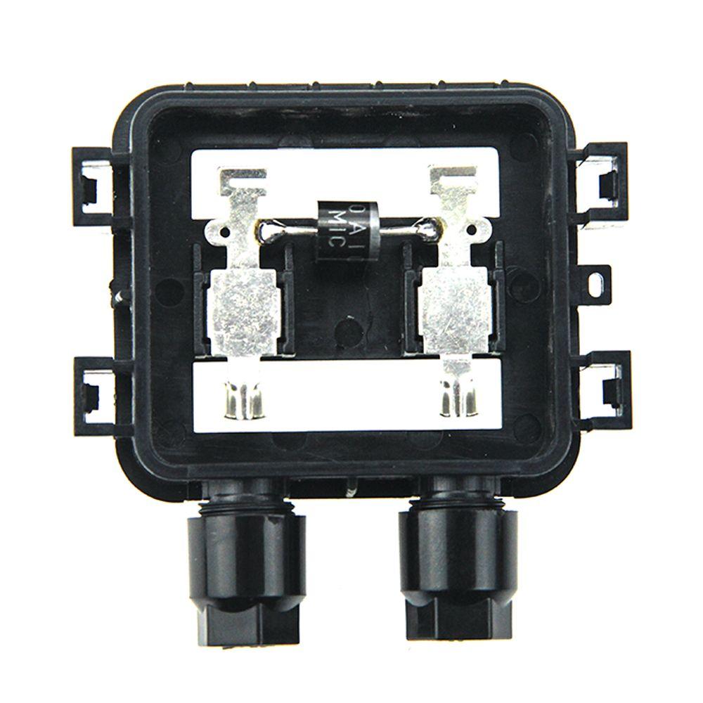 2 pcs solar junction box ip67 waterproof pv module 10w 50w solar panel 2 diodes [ 1000 x 1000 Pixel ]