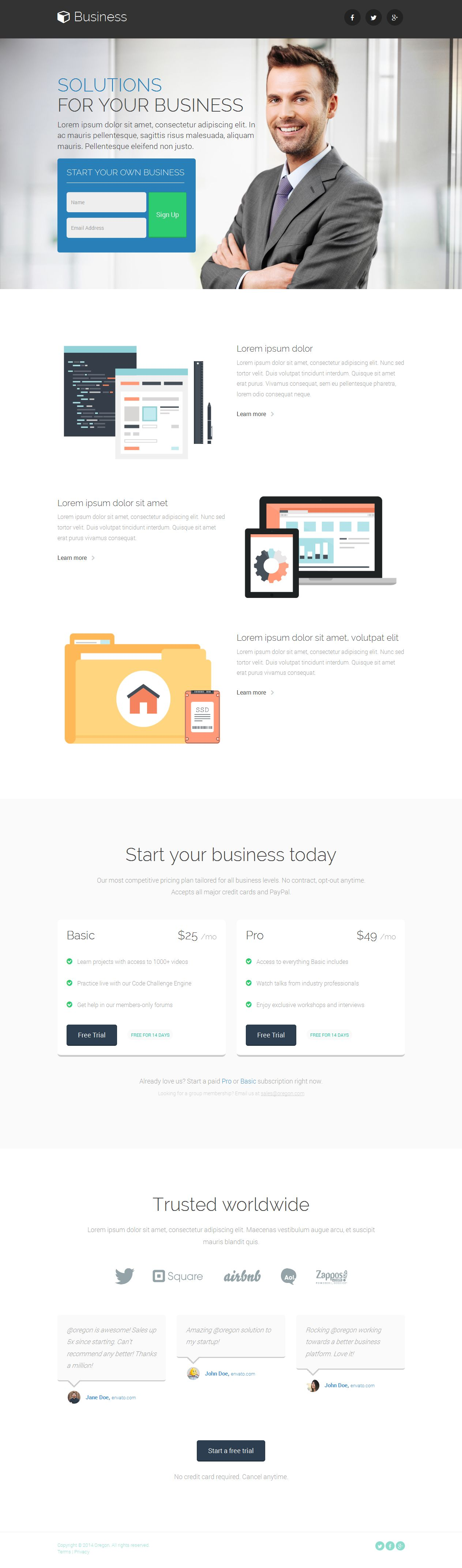 Business landing page template buy and download http business landing page template buy and download httpthemeforestitemoregon business landing page7808012 flashek Image collections