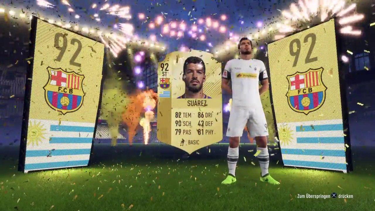 Fifa 18 Fut Gold Premium Pack Mit Super 92er Walkout Suarez 500k