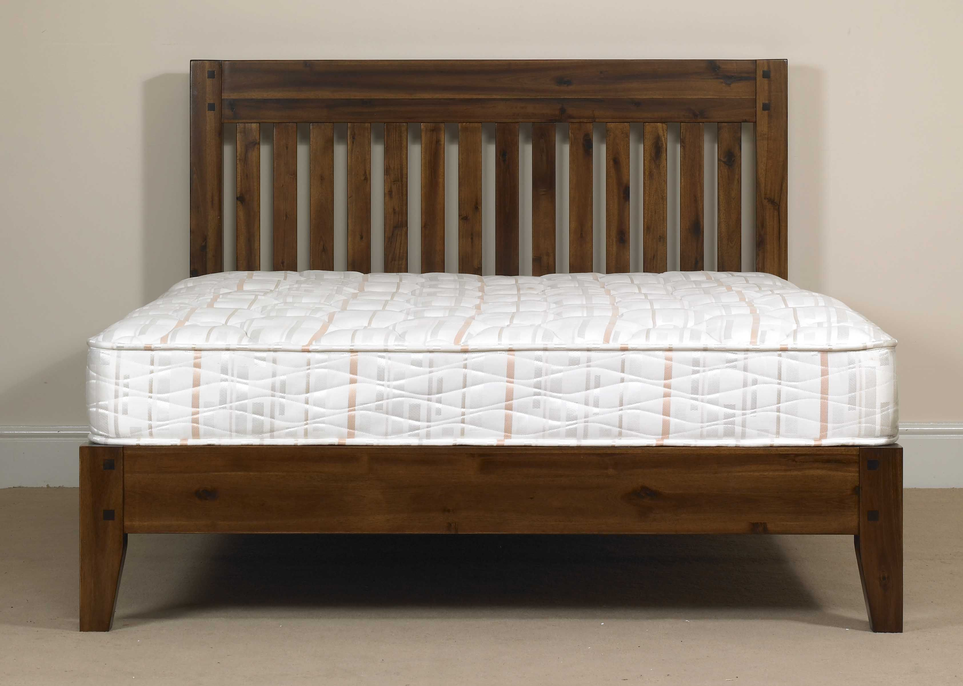 The Kendal Acacia Wood Bedframe In A Rich Dark Woodstain