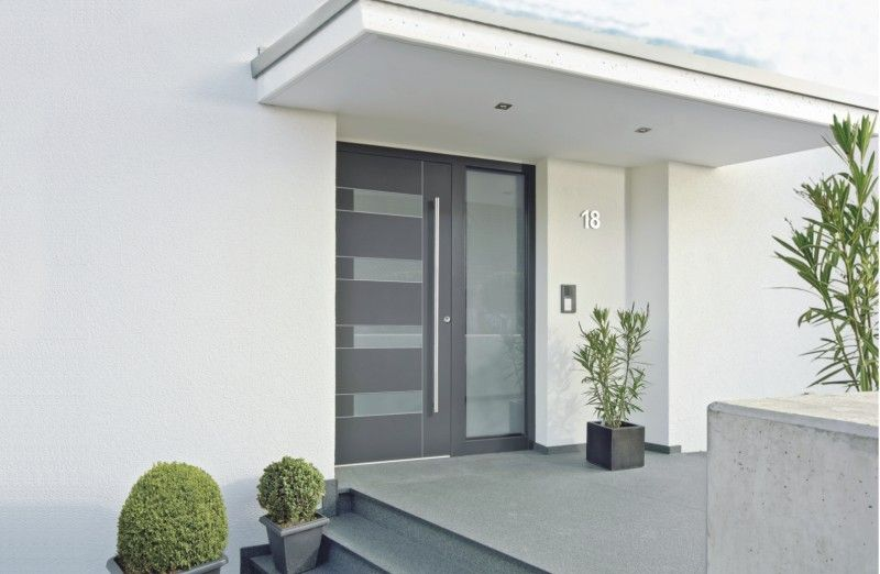 Haustür Eingang kneer suedfenster aluminium holz haustuer jpg 800 522 pixel