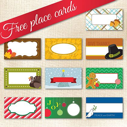 Place Cards Christmas Printable Ideas From Family Pingbag