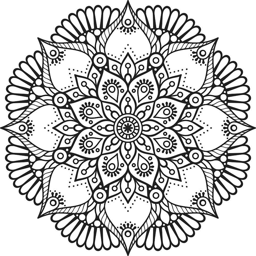 Paper Rose Mandala Cling Mount Stamp Colorful Mandala Tattoo Mandala Coloring Paper Embroidery