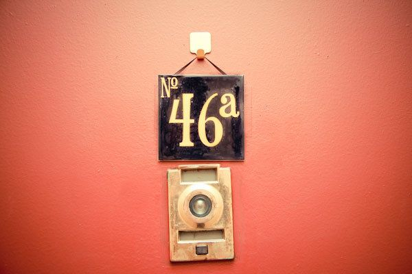 Door Number 27 & Old Blue French House Number 27 Door Gate Plate ...