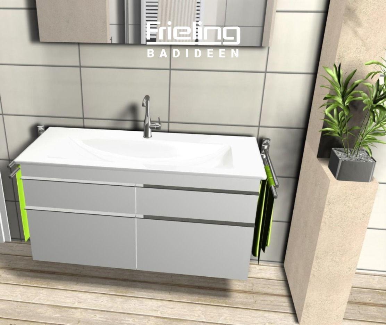 Dieses Badezimmer Uberzeugt Mit Charme Und Gemutlichkeit Der Raum Unterteilt Sich In 2 Einheiten Ruhe In 2020 Waschtisch Landhaus Grosse Badezimmer Ebenerdige Dusche