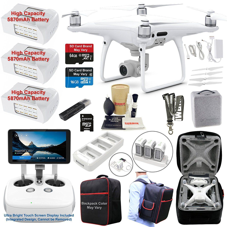 Amazon Com Dji Phantom 4 Pro Plus Pro Profressional Drone Quadcopter Remote W Integrated Touch Touch Screen Display Professional Camera Drone Quadcopter