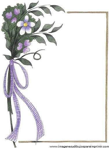 Borde con ramo de flores