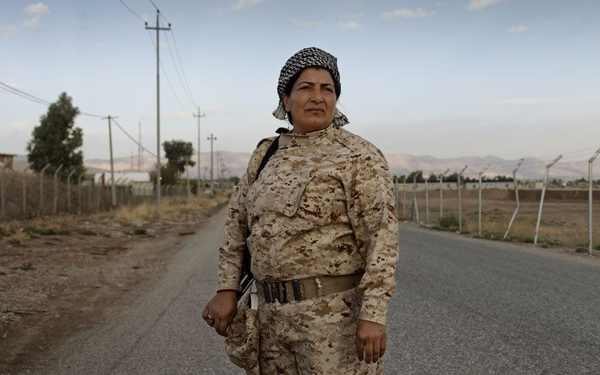 Battling Isil on the frontline in Northern Iraq are the female peshmerga army   - fighting as equals alongside the male Kurdish forces for the future of   their country
