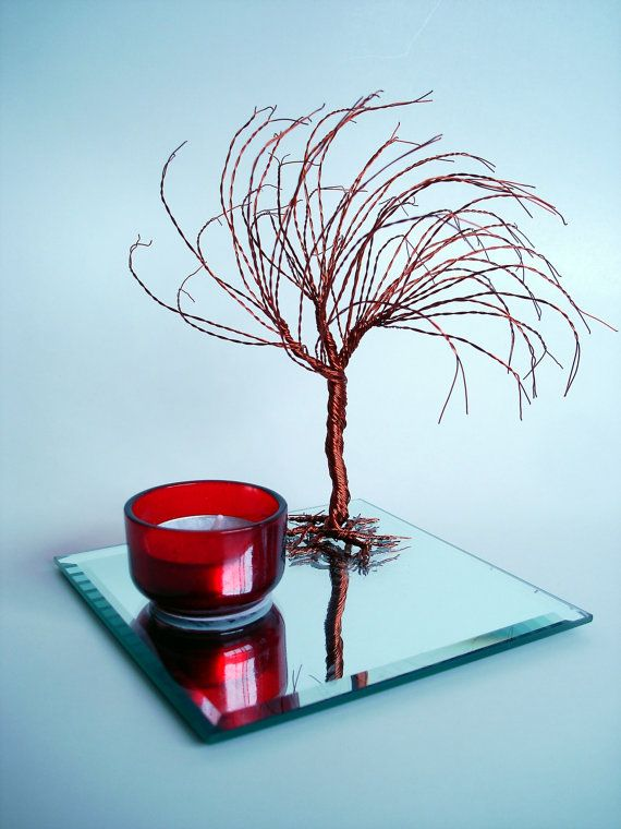 Tea Light Holder Wind Swept Willow Sculpture tree by wireforest ...