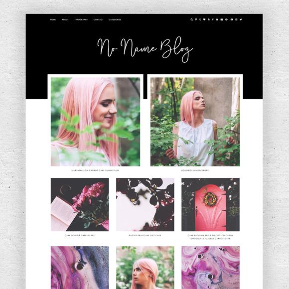 Responsive Blogger - No Name Blog by Underline Designs on @creativemarket
