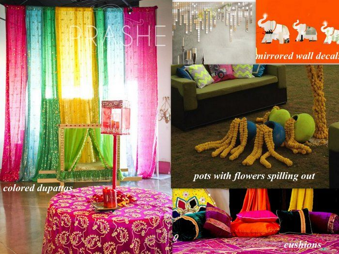 Mehndi Backdrop Diy : Diy decor ideas for your mehendi three cheap chic effortless