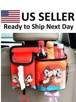 2 Car Seat Back Storage Bag Organizer Tissue Pocket Bottle Snack Red Navyblue   eBay