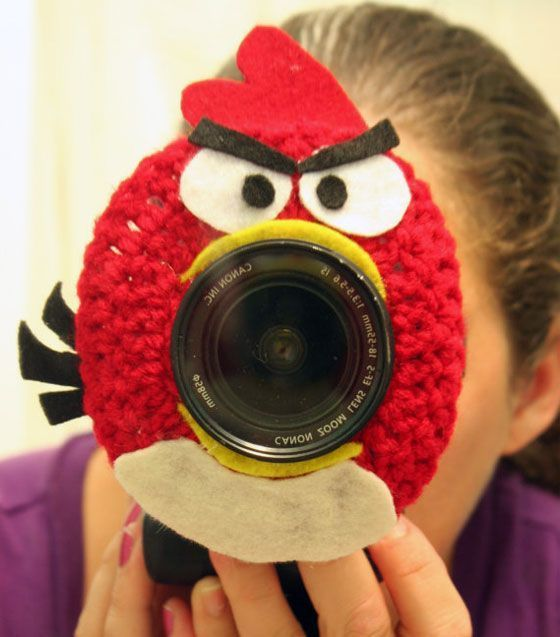 14 Funny and Cute Angry Birds Inspired Products #crochetcamera Crochet Camera Lense Shutter Buddy - Angry Bird (Picture Idea) #crochetcamera 14 Funny and Cute Angry Birds Inspired Products #crochetcamera Crochet Camera Lense Shutter Buddy - Angry Bird (Picture Idea) #crochetcamera