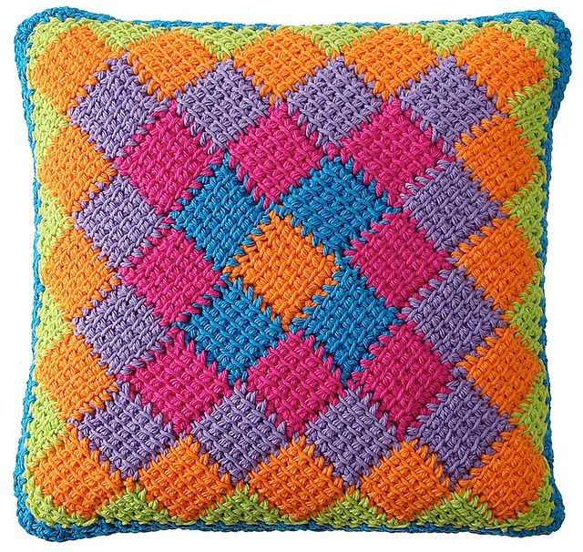 Ravelry Around The World Square Entrelac Pattern Want To Learn