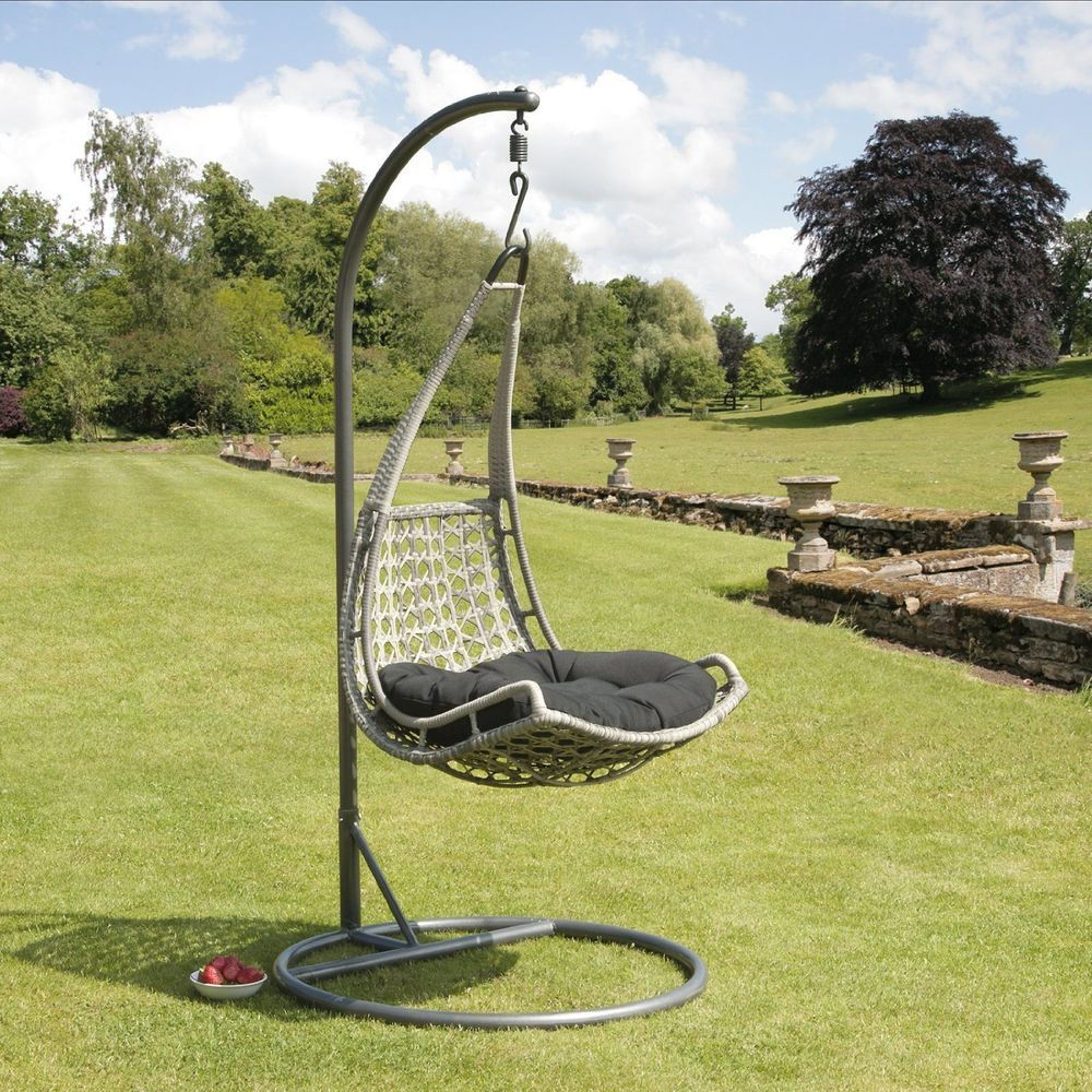 Suntime Babylon Hanging Chair, Thick Cushion, Garden Swinging Wicker ...